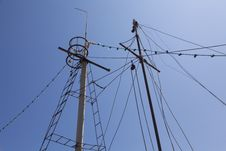 Old Boat Masts Royalty Free Stock Images
