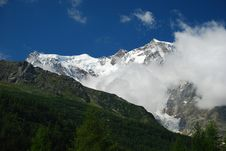 Free Macugnaga, Italy. View Of Monte Rosa Stock Photos - 21377393