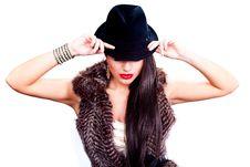 Free Beautiful Fashion Model Posing Stock Image - 21377841