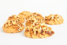 Free Cookies With Nuts Royalty Free Stock Image - 21377966