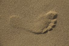 Free Footsteps In The Sand Royalty Free Stock Photos - 21378078