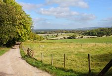 An English Rural Landscape In Early Autumn Royalty Free Stock Image