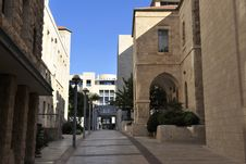 Street In Jerusalem. Royalty Free Stock Images