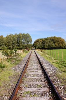 Converging Railway Tracks Royalty Free Stock Image