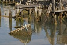 Free Derelict Boat Royalty Free Stock Images - 21378849