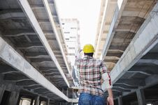Free Hard Worker On Construction Site Stock Images - 21379344