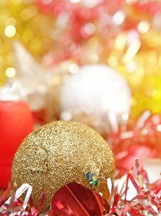 Christmas Decoration With Shiny Glare Royalty Free Stock Image