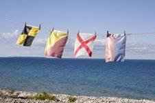 Free Nautical Signal Flags Stock Images - 21379714