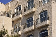 Living House Facade In Jerusalem. Royalty Free Stock Image