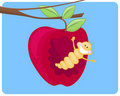 Free Worm&apple Royalty Free Stock Images - 21386539