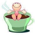 Free Enjoying Coffee Or Tea Royalty Free Stock Image - 21387366