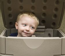 Free Boy In A Box Stock Photo - 21380270