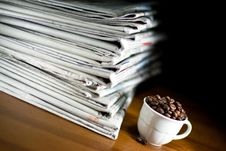 Free Newspaper And Coffee Stock Photos - 21380813