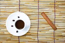 Free Coffee In Cup And Cigar Stock Photography - 21381102