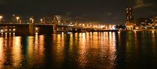 Free Night View Of Volodarsky Bridge In St Petersburg Royalty Free Stock Photos - 21381898