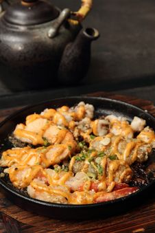 Free Asian Grilled Seafood Platter Royalty Free Stock Image - 21382776