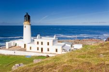 Rua Reidh Lighthouse Royalty Free Stock Photography