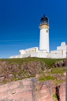 Rua Reidh Lighthouse From Below Stock Photo