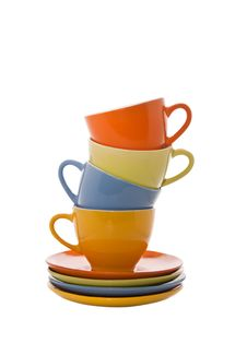 Free Colorful Cups Pyramidd Stock Image - 21382971