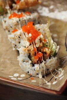 Free Soft Shell Crab Sushi Stock Images - 21382974
