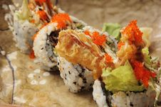 Free Soft Shell Crab Sushi Stock Image - 21382991