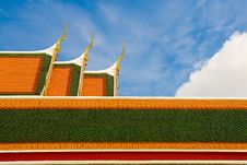 Free Traditional On Temple S Roo Stock Photo - 21384590