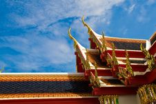 Free Traditional On Temple S Roof Stock Images - 21384674