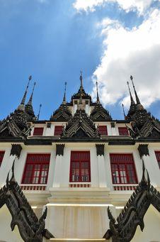 Free Loha Prasat Temple (Wat) In Bangkok Stock Images - 21384954