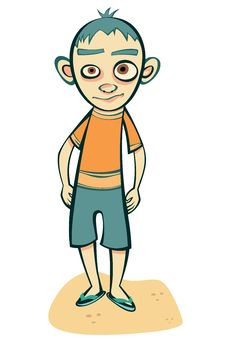 Free Boy And His Character Stock Images - 21386154
