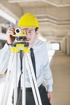 Free Architect On Construction Site Royalty Free Stock Image - 21386276