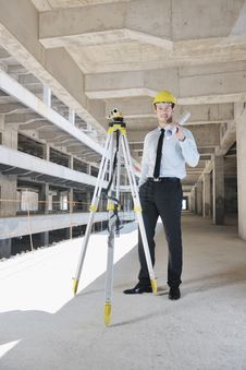 Free Architect On Construction Site Royalty Free Stock Photo - 21386375