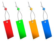 Free Blank Colorful Price Tags Set Stock Image - 21386471
