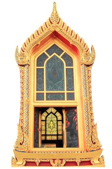 Free Traditional Thai Style Window Temple Stock Images - 21386694