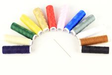 Thread The Needle By Semicircle Pattern Royalty Free Stock Photography