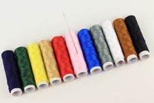 Thread The Needle By Oblique Pattern Royalty Free Stock Photo