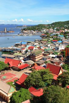 Village On Si-Chang Island Stock Photography