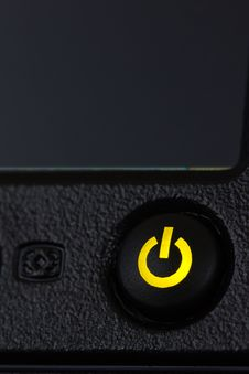 Free Power Button With Green Light Stock Photos - 21387303