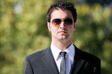Businessman With Sunglasses Royalty Free Stock Images