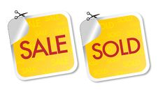 Free Sale And Sold Stickers Royalty Free Stock Images - 21388009