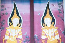 Thai Mural Royalty Free Stock Photos