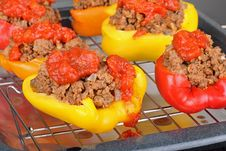 Baked Stuffed Bell Peppers Stock Images
