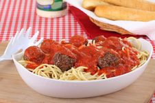 Free Spaghetti And Meat Ball Meal Stock Photography - 21389672