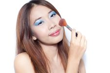 Free Make Up Brush Royalty Free Stock Image - 21389936
