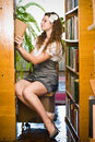 Free Young Woman In Library Royalty Free Stock Images - 21390669