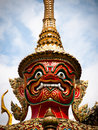 Free Native Thai Style Giant Statues Royalty Free Stock Photography - 21396237