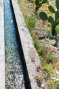 Free Irrigation Ditch In Sicily Stock Photography - 21397302