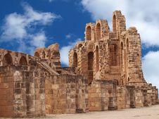 Amphitheater In El Djem Stock Images