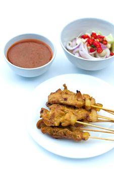 Pork Satay Stock Images