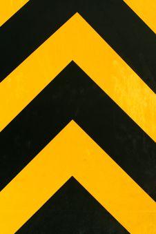 Black Yellow Hazard Stripes Royalty Free Stock Photo