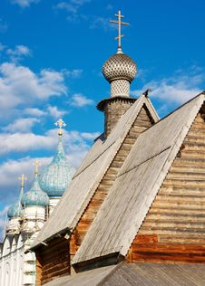 Domes And Crosses In Kremlin Of Of Suzdal Stock Photography